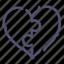 couple, heart, love, puzzle icon