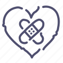 heart, patch icon