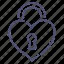 key, lock, love, secret icon