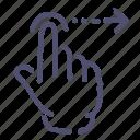 gesture, hand, right, swipe icon