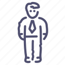 business, employee, man, user icon
