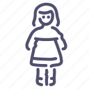 dress, employee, female, user, woman icon