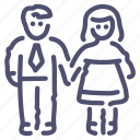 couple, man, woman icon