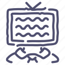 ad, advertising, tv, zomby icon