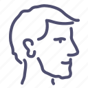head, man, profile