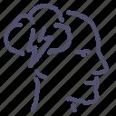 brainstorm, head icon