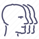 company, group, heads icon