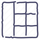 grid, layout, ui, wireframe icon