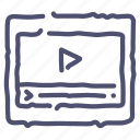 grid, layout, player, wireframe icon