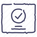 aprove, check, final, grid, layout, wireframe icon