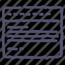 grid, tabs, web, website icon