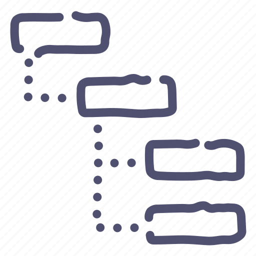 grid, list, sitemap, structure, thread icon
