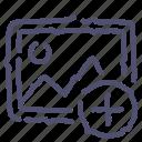 add, image, photo, picture icon