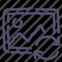image, photo, picture, sync, syncronization icon