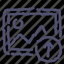 image, photo, picture, upload icon