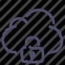 cloud, data, lock, private, storage icon