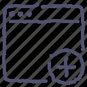 add, app, application, mac, window icon