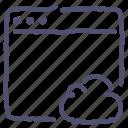 app, cloud, mac, window icon