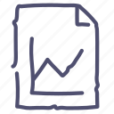 analytics, document, file, graphic, paper, statistics icon
