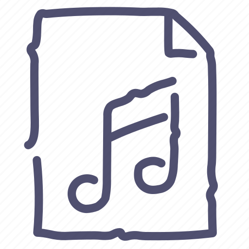 Audio, document, file, music, paper, sound icon - Download on Iconfinder