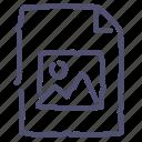 document, file, image, paper, photo icon