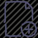 add, document, file, paper icon