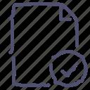 aprove, check, document, file icon