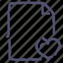 document, favorite, file, paper icon