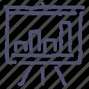 analytics, chart, deck, presentation, promo, statistics, stats icon