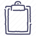 board, buffer, clip, clipboard icon