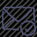aprove, check, mail, message icon