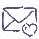 favorite, flagged, mail, marked, message icon