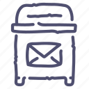 box, email, mail, post, postage, postbox icon