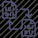 backup, copy, data, digital, file, sync, transfer icon