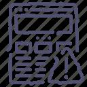 alert, browser, internet, warning, web, wireframe icon