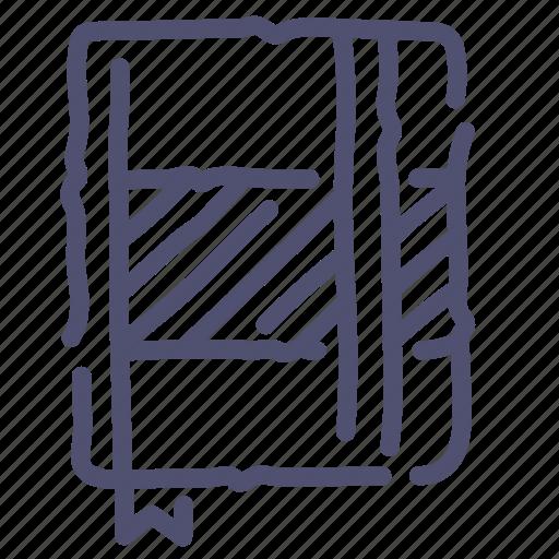 design, moleskine, notes, sketch, write icon