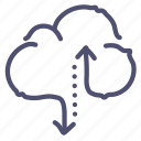 cloud, data, hosting, storage, traffic icon
