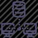 backup, copy, database, storage, sync icon