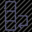 change, column, data, database, edit, swap icon