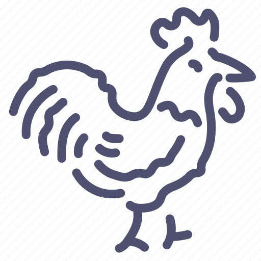 animal, chicken, cock, rooster icon