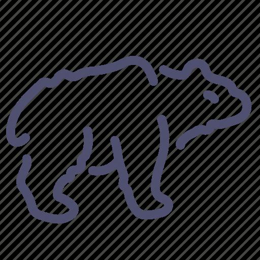 Animal, bear, brown, white icon - Download on Iconfinder