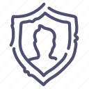 privacy, protect, secure, shield icon