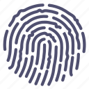 finger, fingerprint, security, touch icon