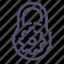 lock, options, password, protection icon