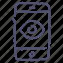 camera, mobile, spy, virus icon