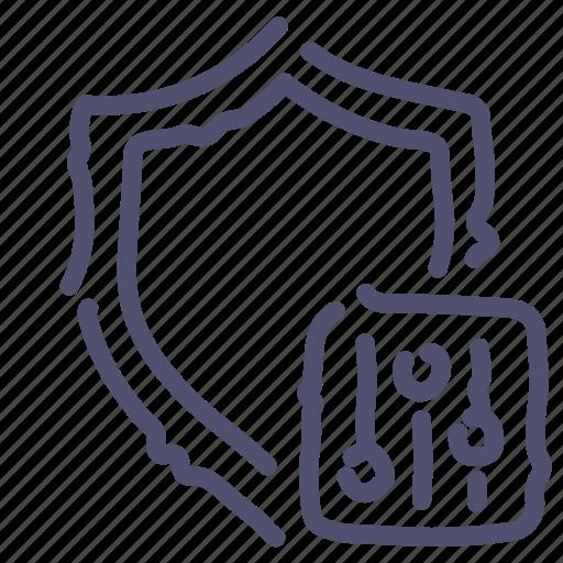 antivirus, options, protection, shield icon