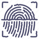 biometric, finger, scan, touch icon