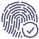 biometric, fingerprint, scan, touch icon