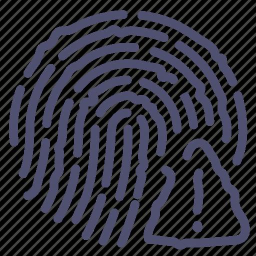 alert, finger, fingerprint, touch icon