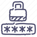 locked, password, protected, protection icon